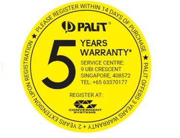 Palit 5 Years Warranty