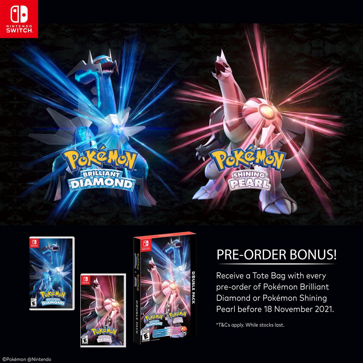 Pre-Order Bonus for Pokémon Brilliant Diamond and Pokémon Shining Pearl